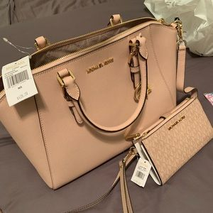 Michael Kors Satchel with Matching Wallet